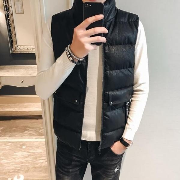 FINDSENSE Z1 韓國 時尚 潮 男 冬季 防寒保暖 短款無袖 後背口袋