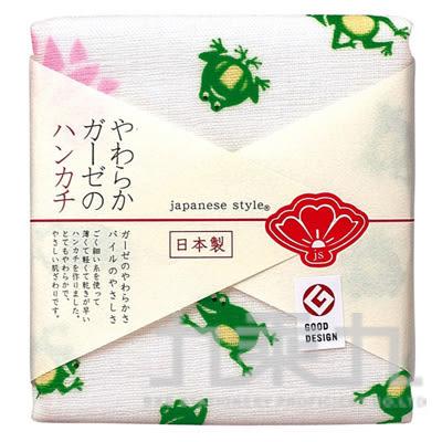 【九乘九購物網】日本原裝進口 日纖 js 新春小方巾-青蛙 JS-3551 161085