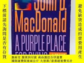二手書博民逛書店A罕見Purple Place for Dying 英文原版《一