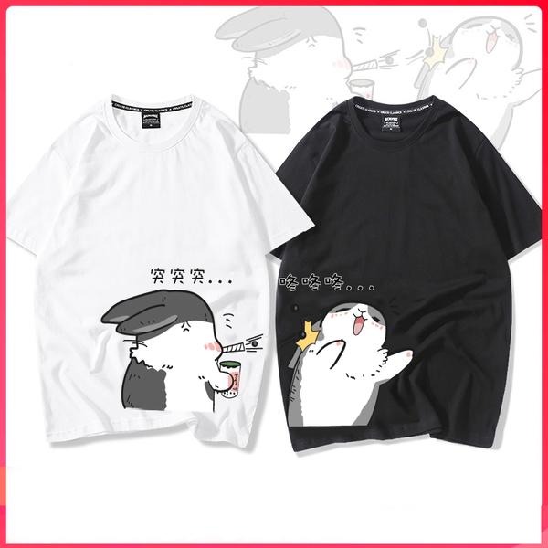 潮T情侶裝 純棉短T 24小時快速出貨 MIT台灣製【Y0899-26】短袖-兔子珍珠奶茶 突突突 咚咚咚