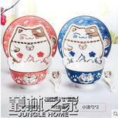 【全館】82折釉下彩日式創意餐具套裝卡通陶瓷碗盤子吃飯碗碟套裝家用中秋佳節