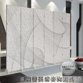 單扇 屏風隔斷客廳玄關辦公時尚現代簡約臥室酒店摺屏抽象紋理QM 美芭