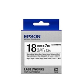 EPSON LK-5WBVN 原廠標籤帶(耐久18mm)白黑 C53S655423