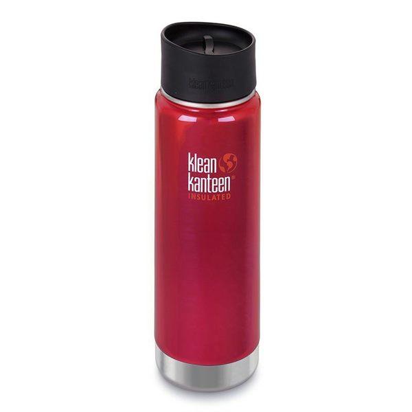 美國 KK瓶 20oz寬口保溫瓶附咖啡蓋2.0 (54mm)火椒紅 K20VWPCC-RP 不鏽鋼水壺/運動水壺
