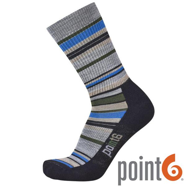 【POINT 6 美國】STAX LIGHT CREW 健行排汗羊毛襪 『黑』22611727 露營|休閒|保暖襪|羊毛