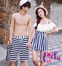A102情侶泳衣藍白海軍連身泳衣情侶泳衣游泳衣泳裝比基尼,單女生售價980元