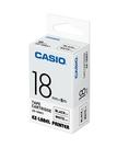 CASIO 標籤機專用色帶-18mm【白底黑字XR-18WE1】