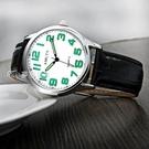 老人手錶老年人手錶女大數字夜光媽媽中老年手錶男皮帶防水老人手錶奶奶 快速出貨