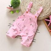 女嬰兒吊帶短褲春夏0-1-2-3歲女寶寶純棉短褲