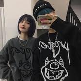 毛衣女新款秋冬韓版ins童趣卡通寬鬆加厚針織上衣情侶套頭潮 韓國時尚週