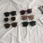 【免運】太陽鏡 2019夏季新款 韓版網紅個性圓臉眼鏡 ins男女復古圓形墨鏡潮
