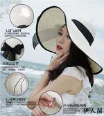 沙灘帽遮陽帽子女夏海邊草帽太陽帽女