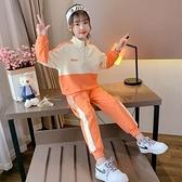 兒童套裝 女童秋裝洋氣套裝2021新款韓版運動網紅小女孩兩件套大童秋冬加絨 歐歐