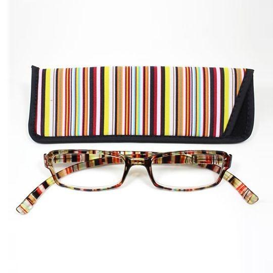 日本專利設計老花眼鏡 Neck Readers (繽紛直紋) 可濾藍光、抗紫外線【S Life 若返生活】