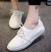 女鞋小白鞋單鞋夏款運動新款平底小皮鞋休閒百搭夏季韓版夏天聖誕交換禮物