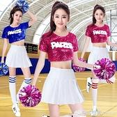 啦啦隊服裝女新款韓版爵士舞服裝舞蹈服女套裝時尚拉拉隊ds演出服