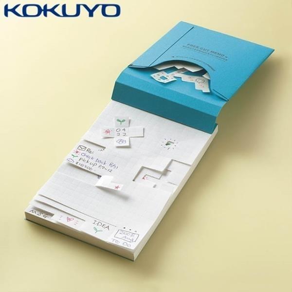 【南紡購物中心】日本KOKUYO自由撕取式便條紙TidbiT方格A6大小F32B自由切割便條紙方眼格記事本