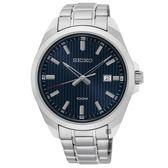 SEIKO 精工 城市時尚石英手錶-藍x銀/42mm 6N42-00H0B(SUR275P1)