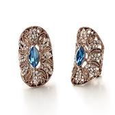 耳環 玫瑰金 925純銀鑲鑽-古典迷人生日情人節禮物女飾品73gs145【時尚巴黎】