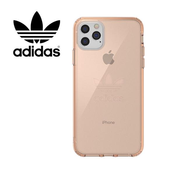 adidas 經典三葉草大logo iPhone 11 Pro MAX 透粉 雙料透明手機殼 PC背板+TPU軟邊 保護套/36412/36413