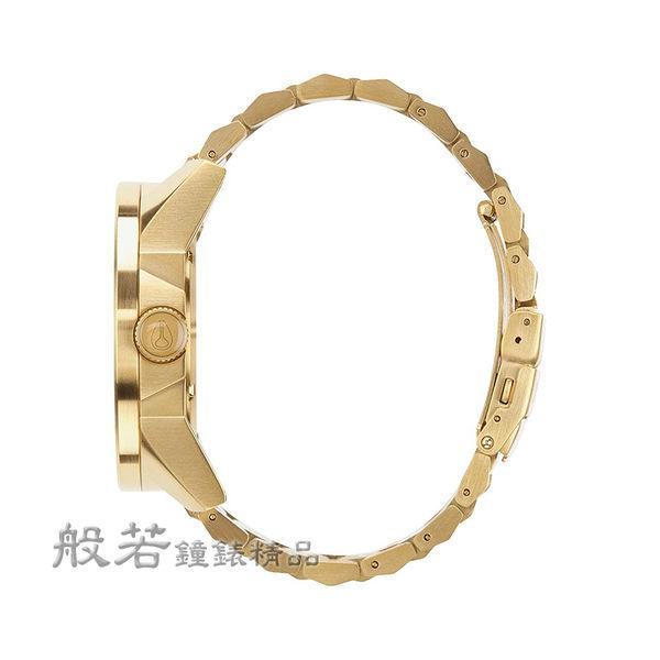 NIXON 炫金風格時尚潮流腕錶/金x黑