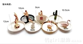 陶瓷盤ins北歐風戒指托珠寶首飾架項鍊耳環釘擺件桌面收納盒 YTL