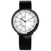 ISSEY MIYAKE 三宅一生 / NH35-0030Z.NYAK003Y / One-Sixth系列 機械錶 日本製造 真皮手錶 白x黑 43mm