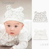 公主嬰兒春秋夏季0-3個月可愛帽子3-6男童女寶寶0-1歲