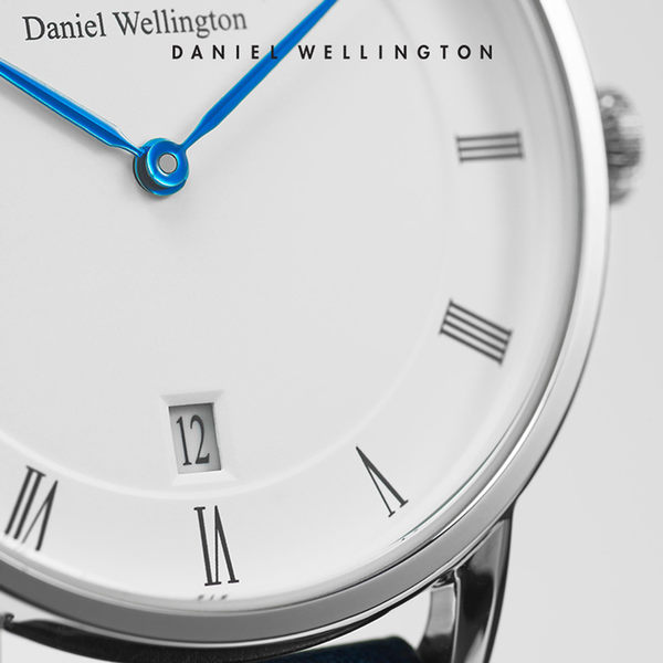 Daniel Wellington DW 手錶 34mm銀框 Dapper 棕色真皮皮革錶
