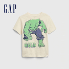 Gap男幼Gap x Marvel 漫威系列綠巨人浩克創意舒適印花短袖T恤577644-代托納