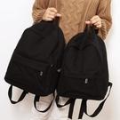 後背包女 大小款純色帆布書包男雙肩包女韓版高中生雙肩背包中學生簡約百搭