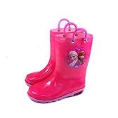 冰雪奇緣 Frozen Elsa Anna 雨鞋 雨靴 桃紅色 中童 童鞋 FOKL04293 no741