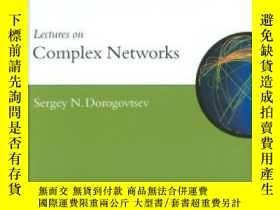 二手書博民逛書店Lectures罕見On Complex Networks (o