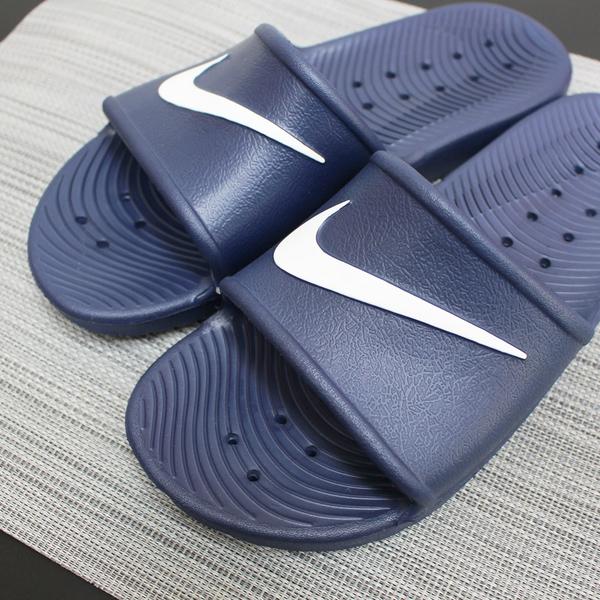 【現貨】CLASSICK- NIKE WMNS Kawa Shower Slide 防水 拖鞋 黑色白勾 雨天必備 不發臭 不潮濕 832655-001