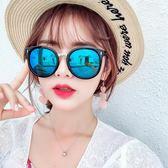 墨鏡太陽眼鏡女潮復古圓臉防紫外線眼鏡 愛麗絲精品