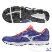 MIZUNO美津濃 WAVE SPARK 2 Jr. 一般型大童鞋(藍紫*白)