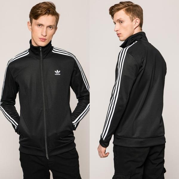 【GT】Adidas Originals 黑 外套 運動 休閒 復古 素色 立領 愛迪達 三葉草 基本款 經典款 CW1250