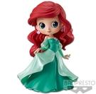 Banpresto 迪士尼Q Posket Disney 艾莉兒禮服版(A綠色) 14cm BD35684原廠公司貨