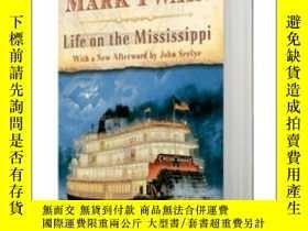二手書博民逛書店密西西比河上的生活罕見英文原版 Life on the Mississippi 馬克·吐溫 Mark Twain
