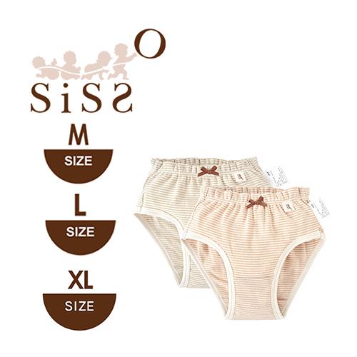 【SISSO有機棉】女童柔條三角內褲(二入組) M L XL