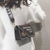上新包包女新款女包網紅小黑包質感百搭韓版寬肩帶斜背包