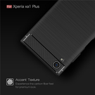 88柑仔店-----索尼Xperia XA1 Plus碳纖維拉絲手機殼 xa1 plus硅膠全包磨砂軟套