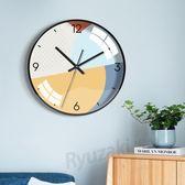 藝術時鐘表客廳家用創意個性靜音掛鐘北歐現代簡約大氣臥室石英鐘