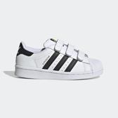 Adidas Superstar Cf C [EF4838] 中童鞋 運動 休閒 慢跑 百搭 貝殼 基本 愛迪達 白黑
