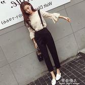 套裝女春裝時尚潮新款韓版氣質春季女裝背帶褲兩件套時髦百搭 完美情人精品館