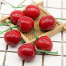 【BlueCat】仿真鮮紅色櫻桃裝飾品 拍照背景