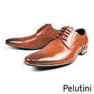 【Pelutini】時尚尖頭牛皮德比紳士...