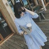 襯衫裙 法式桔梗復古山本超仙女森系甜美很仙法國小眾襯衫連身裙子夏學生 交換禮物