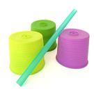 美國 Silikids 果凍餐具- 超彈力隨行吸管杯套三入組(升級版) 嫩綠紫