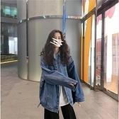 韓國早秋ins牛仔外套女可甜可鹽帥氣bf寬鬆原宿風情侶夾克外套潮  店慶降價